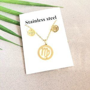NEW Virgo Sign Stainless Steel Necklace/Earrings